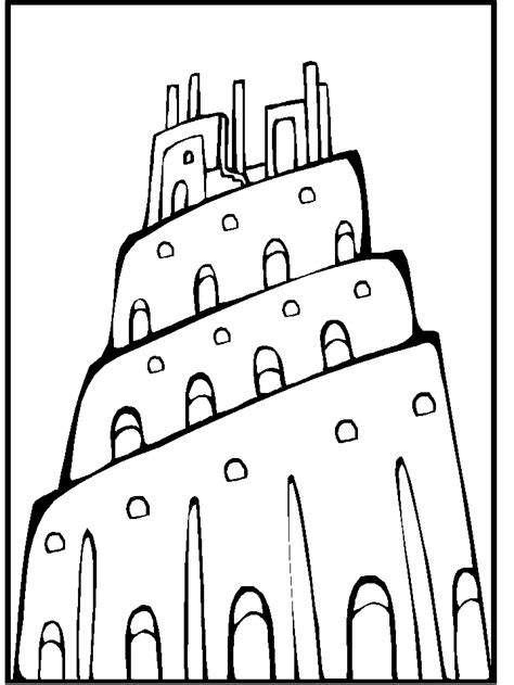 coloring page for tower of babel tower of babel coloring page coloring home