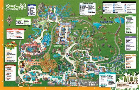 Busch Gardens Park Map by Busch Gardens Map Orlando Theme Park Talk