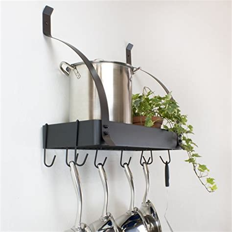 Wall Mounted Pot Racks For Kitchen Contour Essentials Stainless Steel Wall Mounted Kitchen