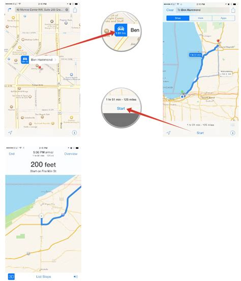 get directions from maps how to quickly get directions to any contact with maps imore
