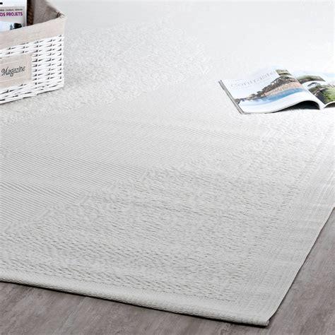 outdoor teppich ibiza aus kunststoff    cm weiss