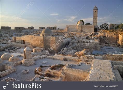 applications to the citadel western asia the citadel of aleppo syria stock image