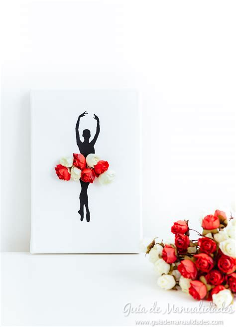 cuadro con flores cuadro diy bailarina con flores gu 237 a de manualidades