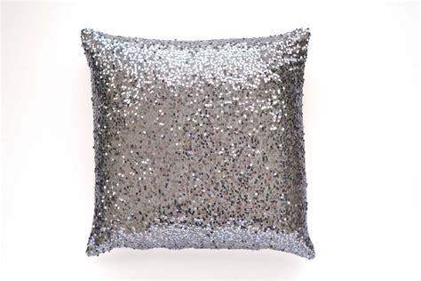 Sequin Decorative Pillows gray throw pillow cover gunmetal silver sequin 20 x 20