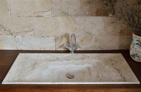 lavello in marmo lavabo rettangolare in travertino da incasso modello