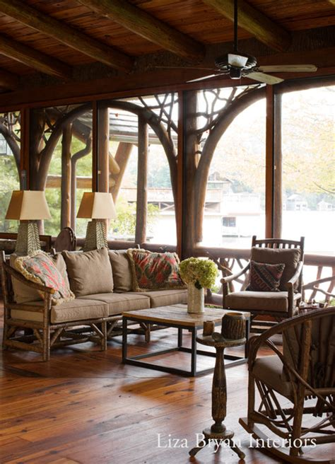 adirondack lake house rustic porch other metro by