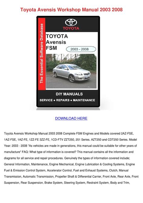 small engine repair manuals free download 2008 toyota highlander on board diagnostic system toyota avensis workshop manual 2003 2008 by winfredthurman issuu