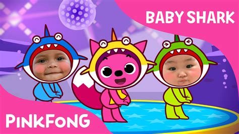 baby shark youtube pinkfong baby shark dance with kids wearing shark costumes