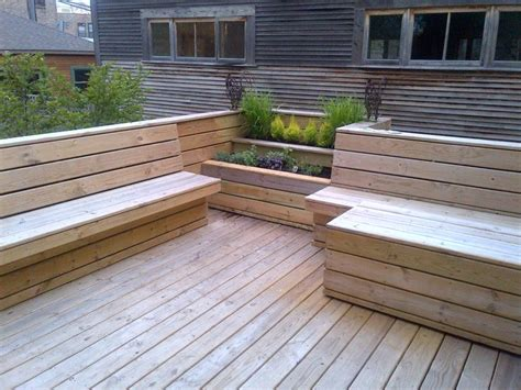 built in deck benches built in deck furniture outdoor spaces pinterest