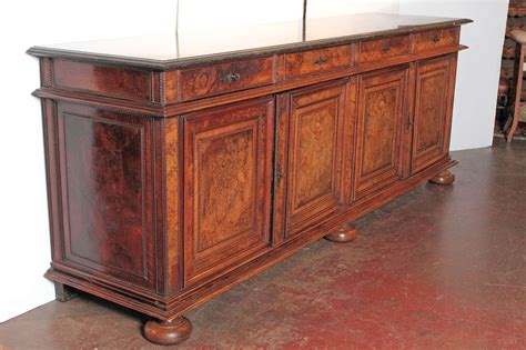 Antique Sideboard With Marble Top antique walnut buffet sideboard with marble top at 1stdibs