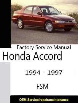 service and repair manuals 1997 honda accord parental controls honda factory service repair manuals