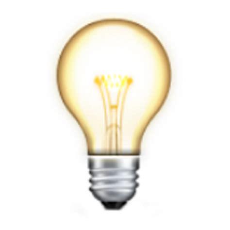 electric lights electric light bulb emoji u 1f4a1 u e10f