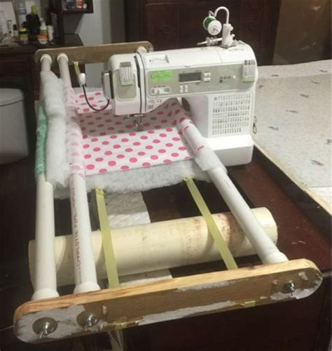 Diy Machine Quilting Frame Plans by 25 Best Ideas About Quilting Frames On