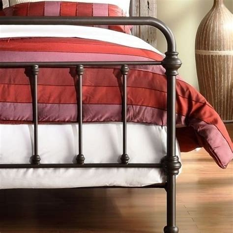 Vintage Style Metal Bed Frame Antique Finish Bronze Size Metal Bed This Brass Bed Style Frame Has A