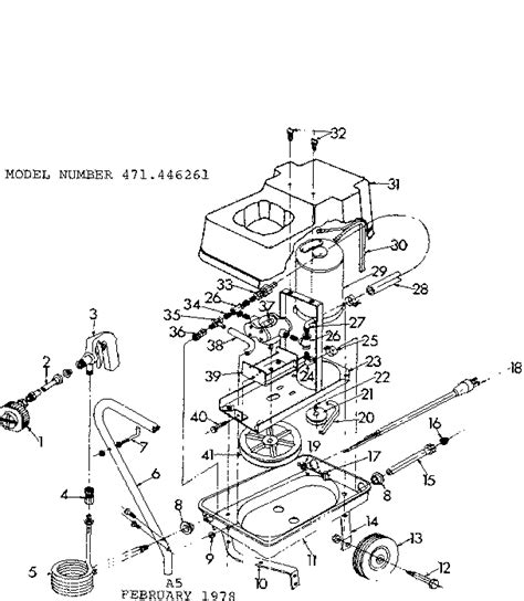 craftsman pressure washer parts diagram craftsman sears hi pressure power washer parts model