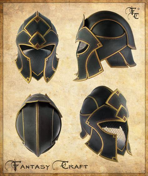 design patterns helm fantasy leather helmet by fantasy craft on deviantart