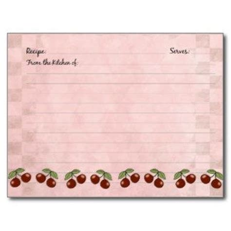 cupcake recipe card template 108 best recipe cards images on printable