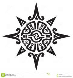mayan or incan symbol of a sun or star stock vector