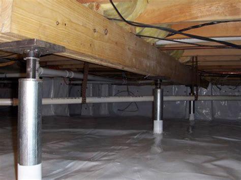 basement support jacks crawl space jacks installed by authorized foundation