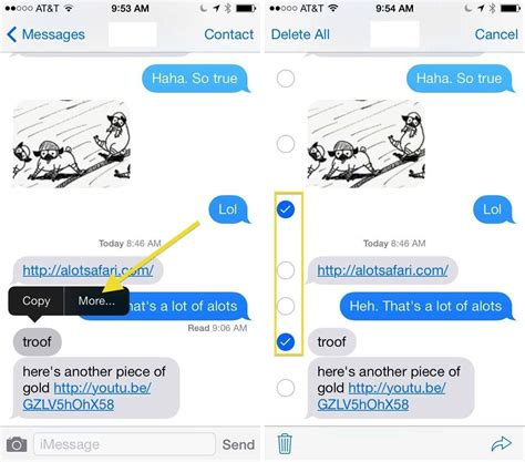 how to delete text messages from your iphone in ios 7 ios