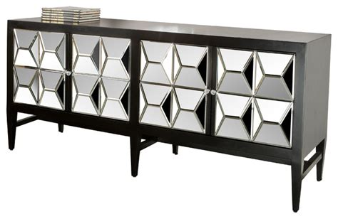 Hooker Bedroom Furniture spike mirrored sideboard black contemporary buffets