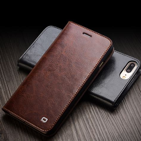 Original Leather For Iphone 7 Plus aliexpress buy qialino for iphone 7 handmade genuine leather wallet for iphone 7