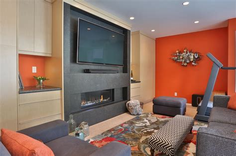 orange walls living room orange living room photos hgtv