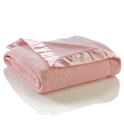 Elegant Crib Bedding Pink Microfiber Baby Blanket By Elegant Baby