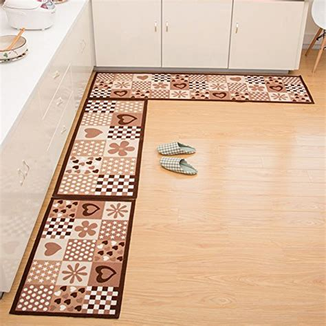 Decorative Kitchen Rugs Seamersey Home And Kitchen Rugs 2 Pieces 4 Size Decorative Non Slip Rubber Backing Doormat