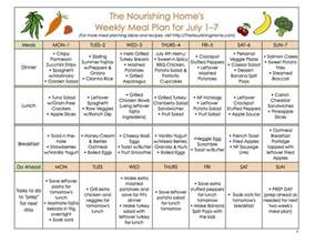 meal plan monday june 24 july 7 the nourishing home
