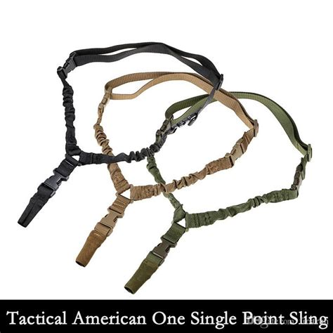 S F Adjustable Single Point Sling Bungee Tactical Rifl 2016 tactical american sling one single point sling