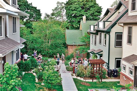 Co Housing by Cohousing Puts The Emphasis On The Neighborhood The