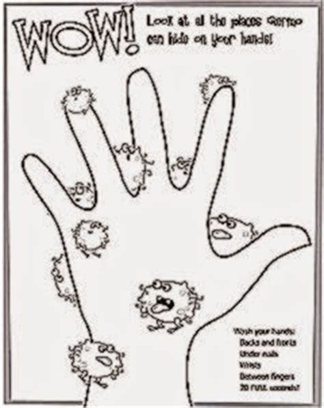 hand washing coloring sheets free coloring sheet