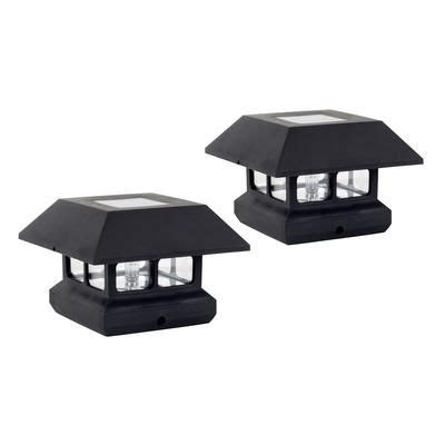 Fusion Solar Fence Post Lights 2 Pack 16442 Home Solar Post Lights Home Depot