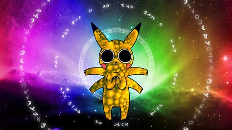on acid pikachu on acid 3 by zurr1 on deviantart