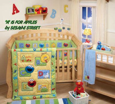 Sesame Street Baby Nursery Crib Bedding Abc Alphabet Sesame Crib Bedding Sets