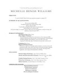 Child Psychologist Sle Resume by 79 Enchanting Resume Sles Exles Of Resumes Psychology Resume Sles School