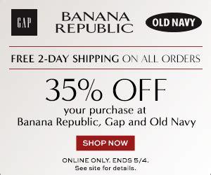 Free Shipping At Banana Republic The Gap Old Navy   35 off free 2 day shipping from old navy banana