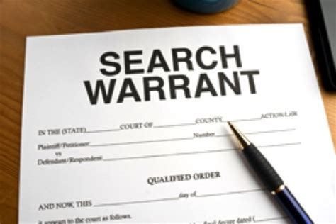 Do Officers Need A Warrant To Search Your Car Search Warrant Authorising The Of A Person S