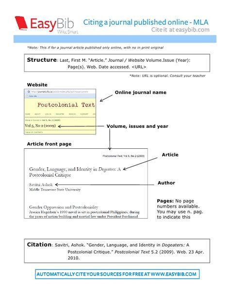 mla journal article citation