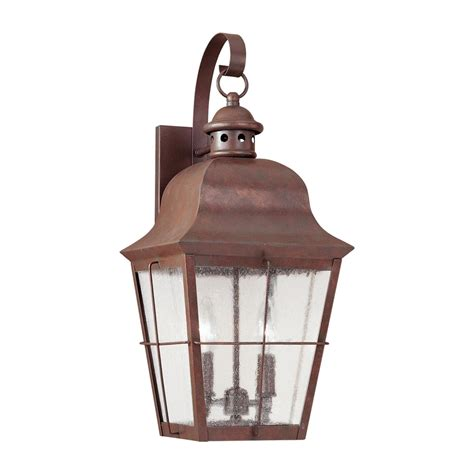 Shop Sea Gull Lighting Chatham 21 In H Weathered Copper Outdoor Lighting Copper