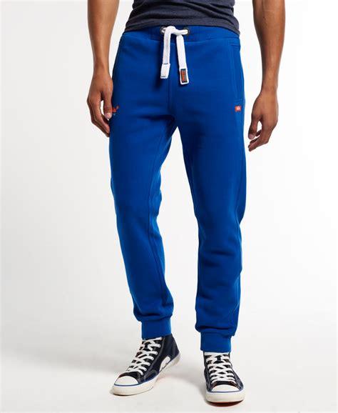Embroidered Slim Fit Jogger new mens superdry slim fit joggers voltage blue ebay