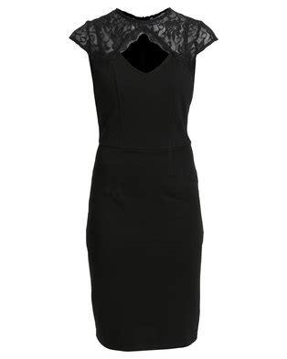 Utopia Bodycon Dress with Lace Detail Black | Zando