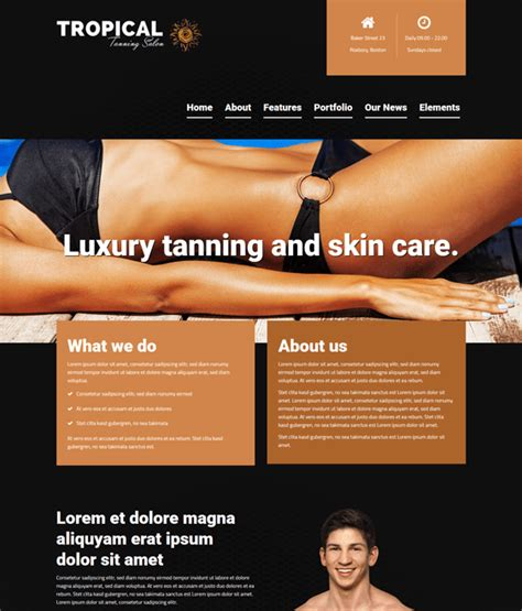 11 Of The Best Free Premium Beauty Salon Spa Wordpress Themes Down Tanning Salon Website Templates