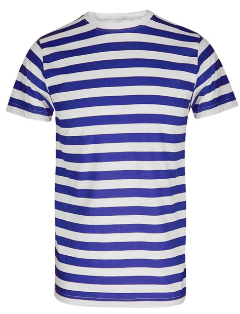 S S T Shirt With Stripe s boys and white striped t shirt top blue black