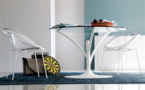 tavoli stravaganti tavolo rotondo in acciaio e vetro acacia calligaris