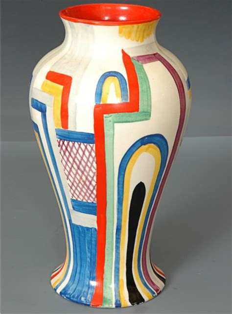 Clarice Cliff Vase by The Spirit Of Deco Wath Comp Artists