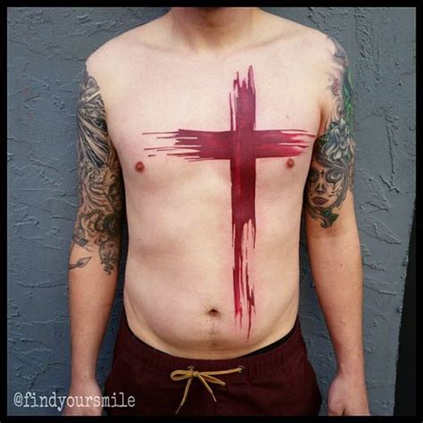 watercolor tattoos cross water color cross search ideas