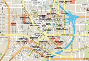 Atlanta On A Map by Map Of Downtown Atl Pictures To Pin On Pinterest Pinsdaddy