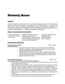 Resume Sles For Estheticians by Cosmetics Sales Resume Sle